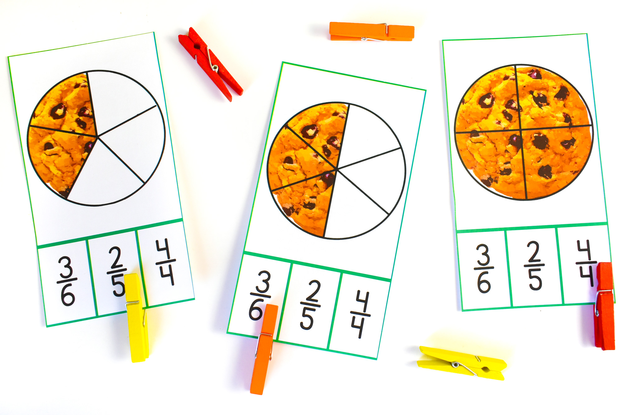 Cookie Count and Clip Cards | HolidayPrintables.net