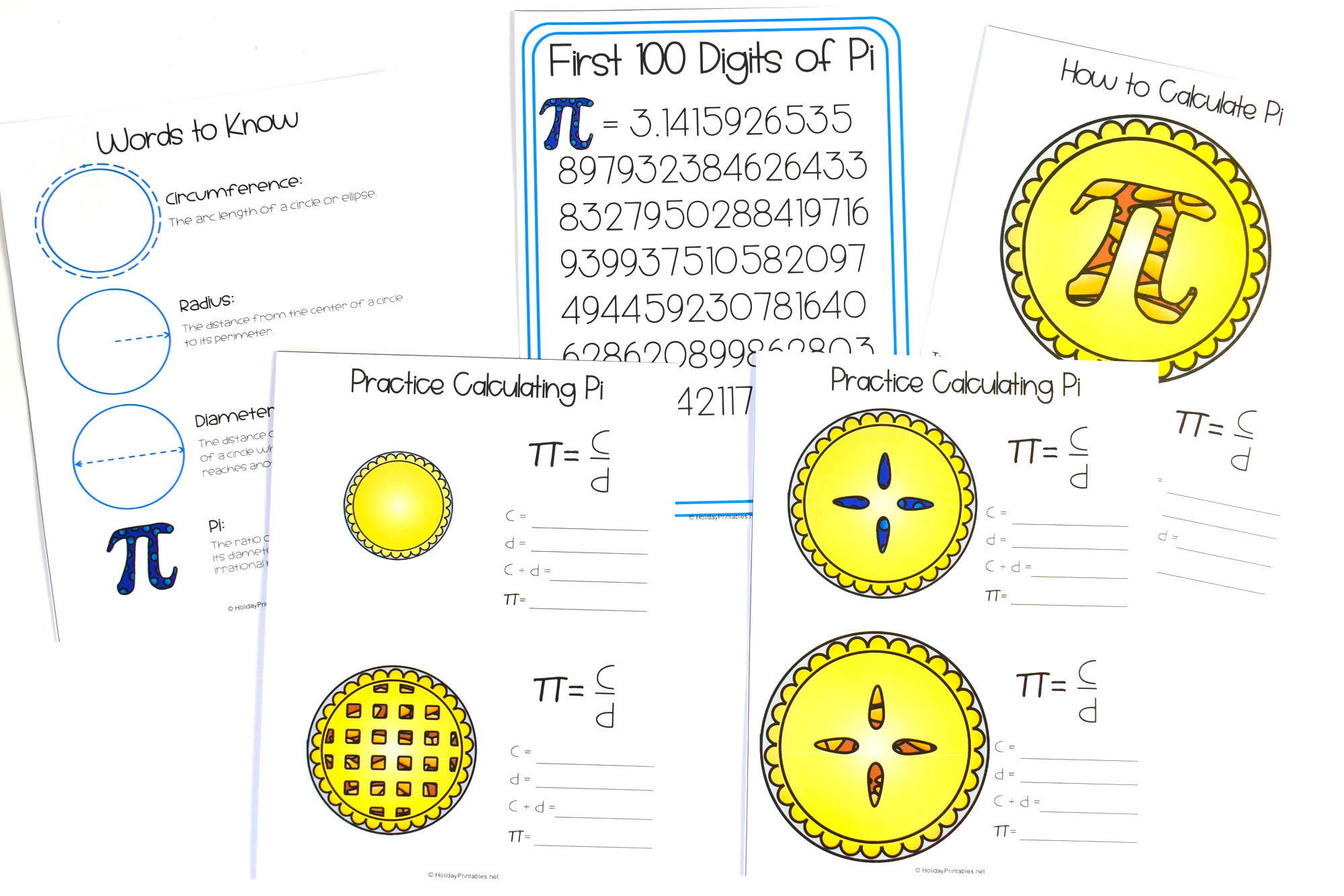 Pi Day Printable Pack   HolidayPrintables.net #piday #math #stem #printables #holidayprintables #weloveprintables
