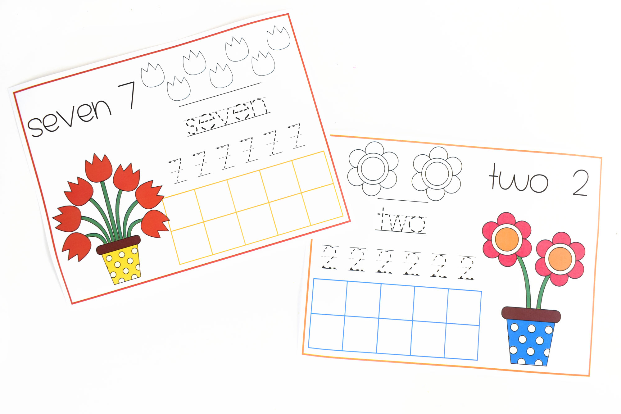 Spring Counting Flowers Printable Pages for Kids | HolidayPrintables.net #printables #holidayprintables #springpritnables #countingpages #math #preschoolprintables #educationprintables #homeschoolprintables #weloveprintables