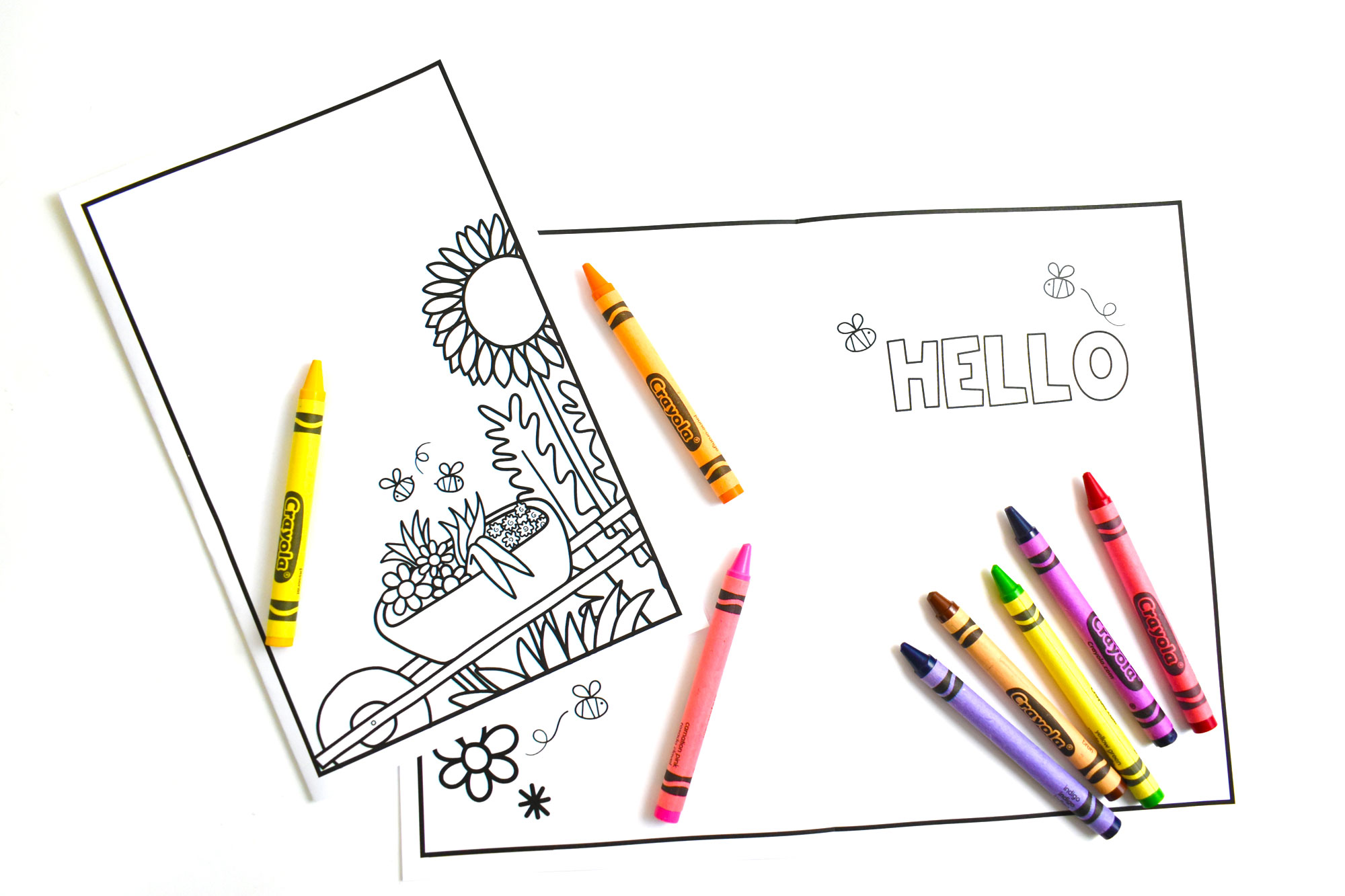 Color it Yourself Greeting Card | HolidayPrintables.net