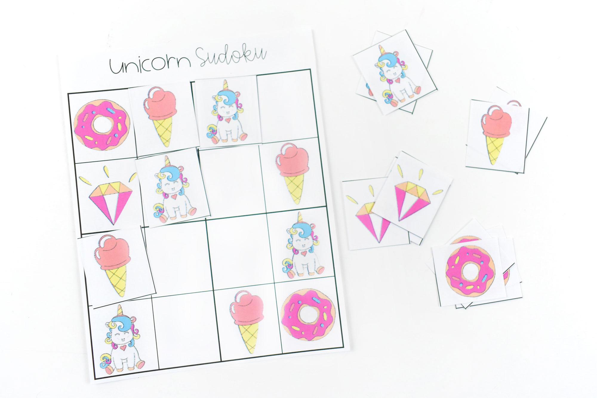 Unicorn Easy 4x4 Sudoku
