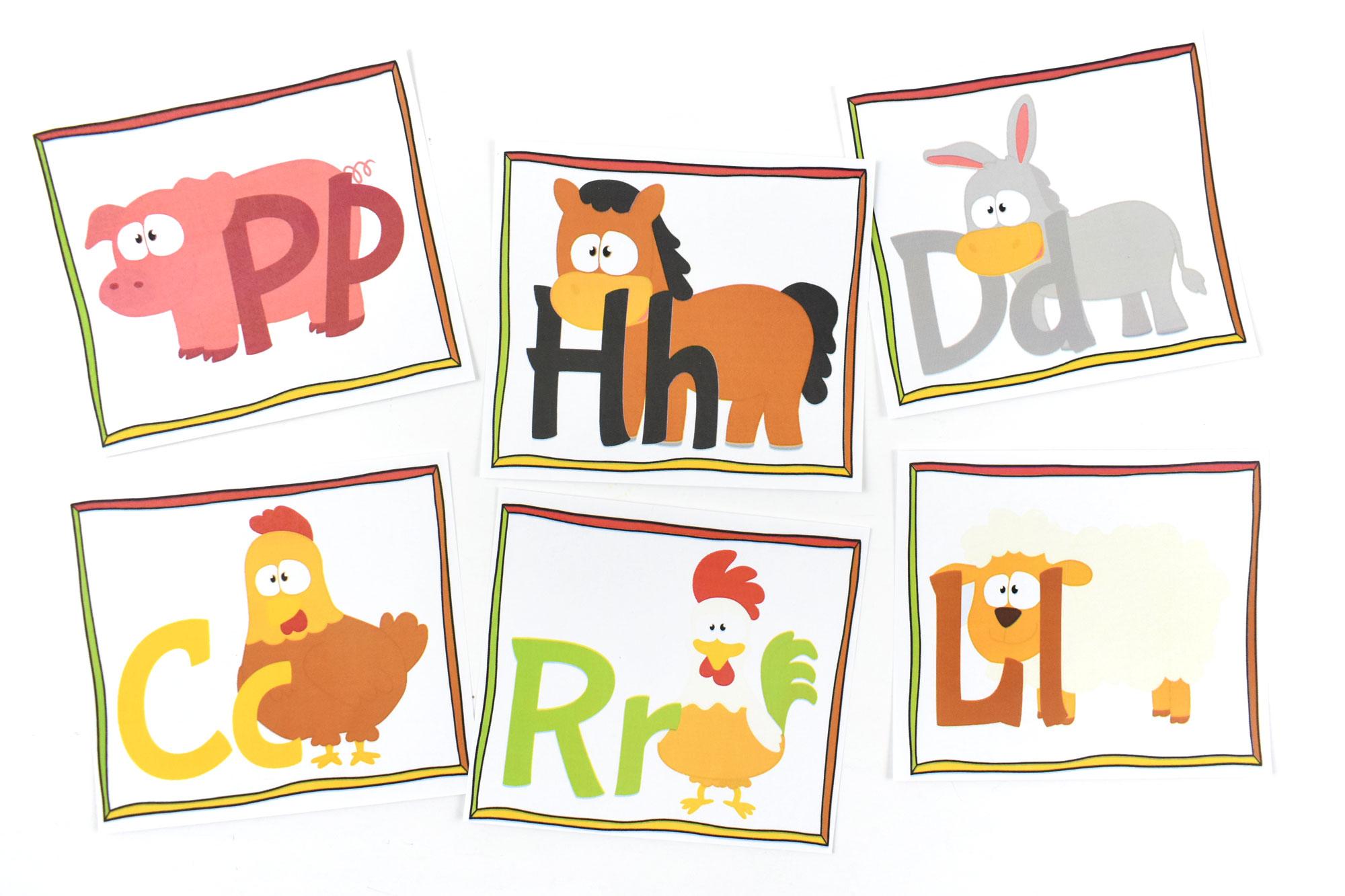 Farm Animal ABC Printable Flashcards | HolidayPrintables.net #freeprintables #abcprintables #farmanimals #farmprintables #homeschoolprintables #educationprintables #preschoolprintables #weloveprintables #holidayprintables