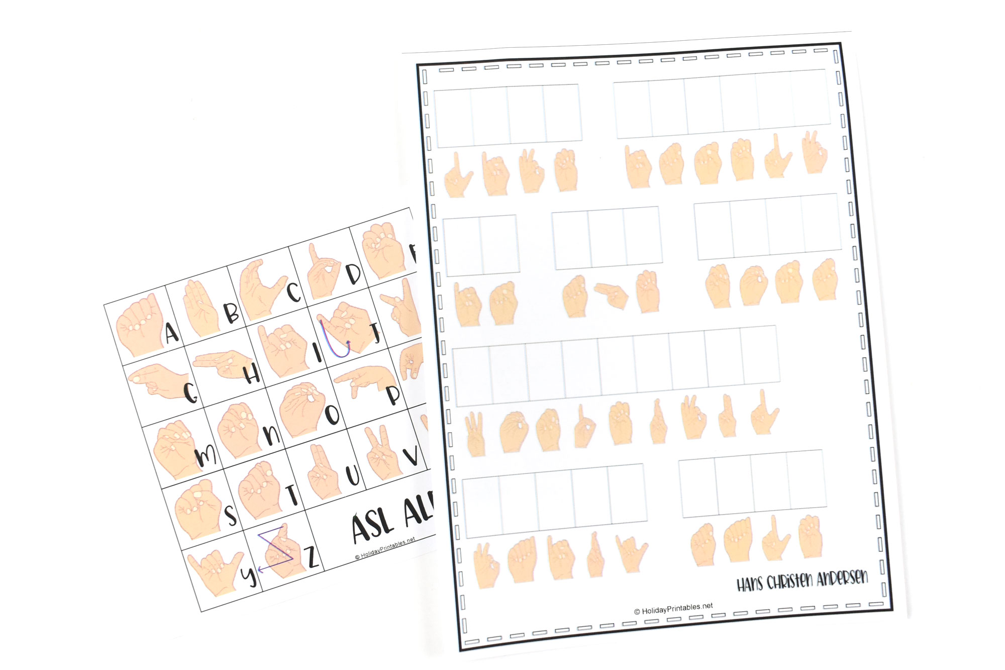 ASL Coded Phrases | HolidayPrintables.net