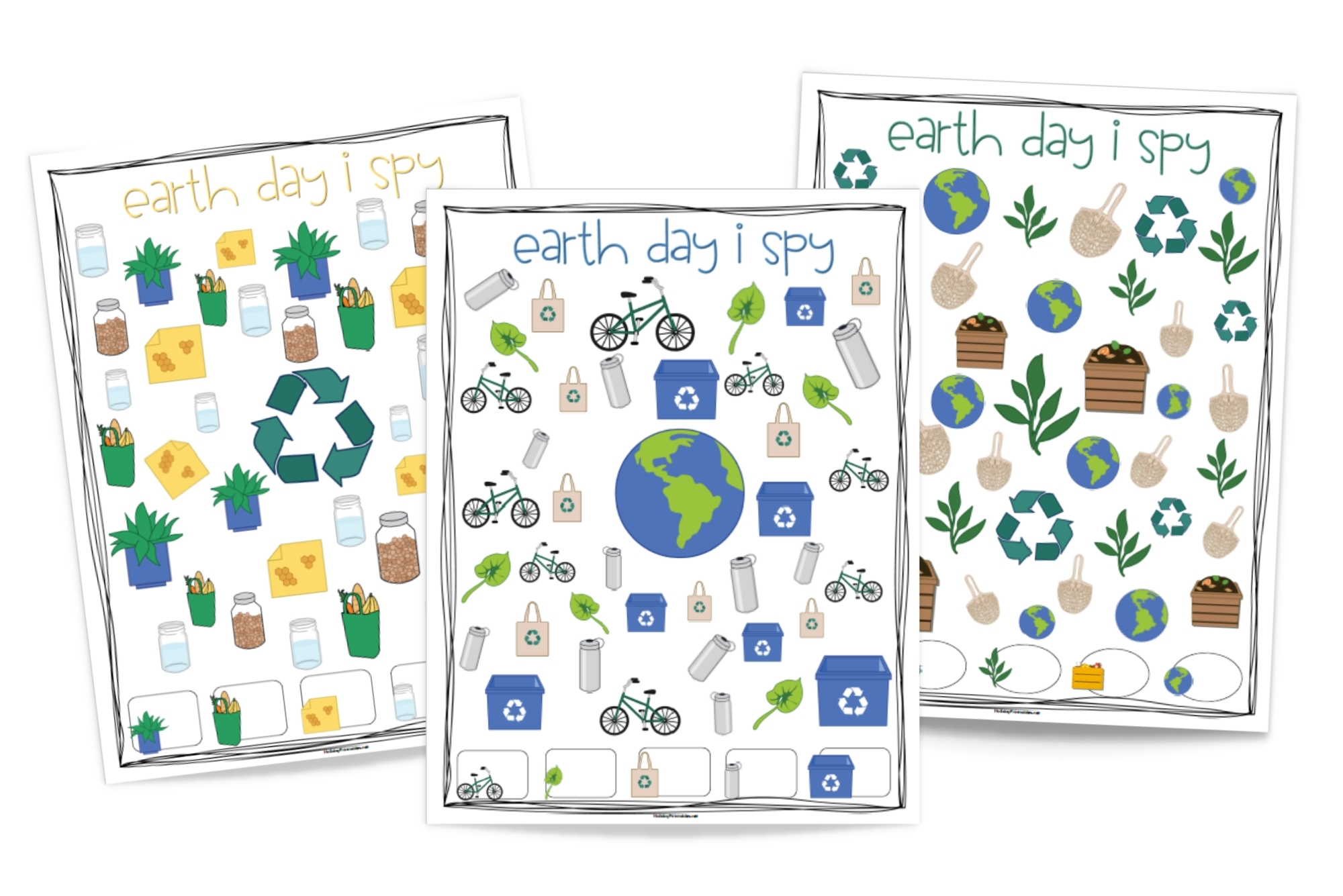 Earth Day I Spy Printable Pages | HolidayPrintables.net