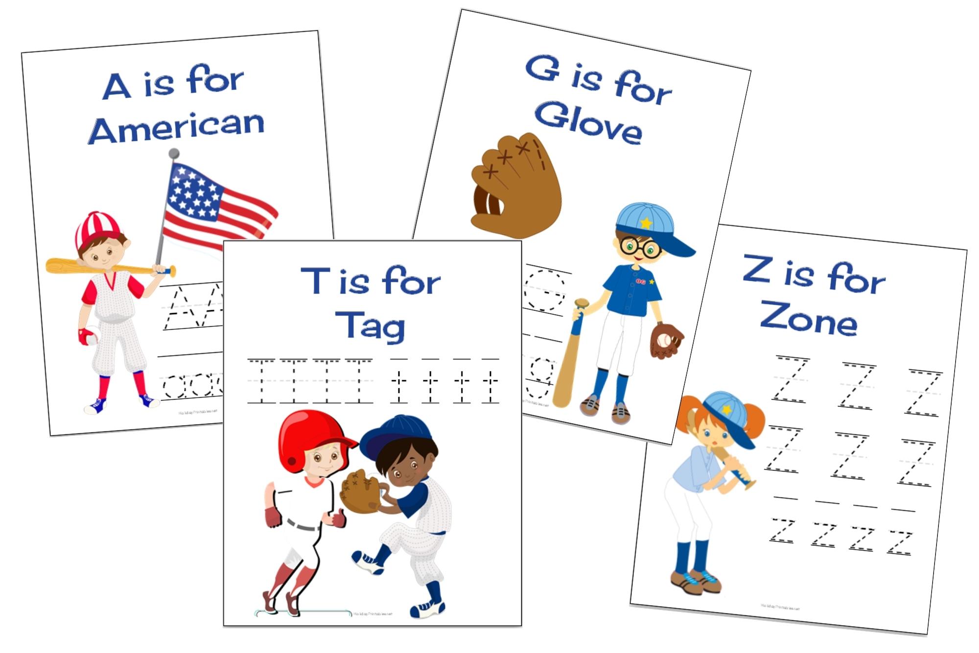 The ABCs of Baseball Printable Pack | HolidayPrintables.net